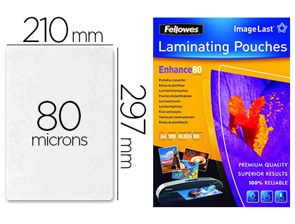 FELLOWES A4 80 Microns