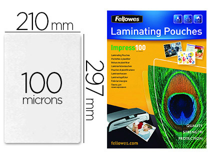 FELLOWES A4 100 Microns