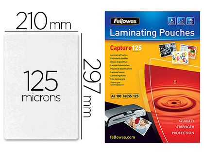 FELLOWES A4 125 Microns