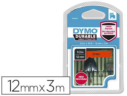 DYMO D1 NOIR/ORANGE 12mmx3m