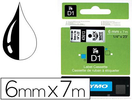 DYMO D1 NOIR/BLANC 6mmx7m