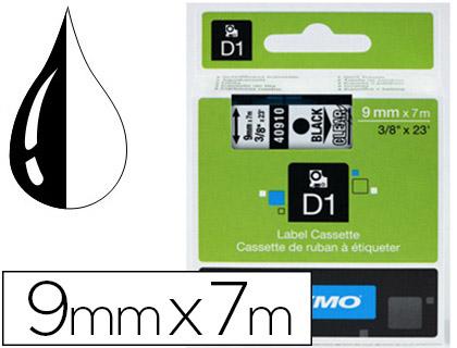 DYMO D1 NOIR/TRANSPARENT 9mmx7m