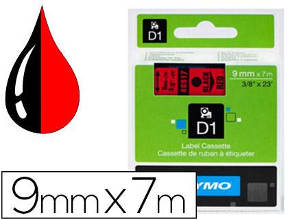 DYMO D1 NOIR/ROUGE 9mmx7m