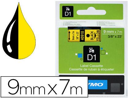 DYMO D1 NOIR/JAUNE 9mmx7m