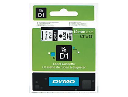 DYMO D1 NOIR/BLANC 12mmx7m