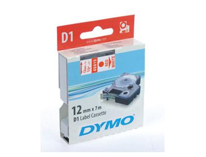 DYMO D1 ROUGE/BLANC 12mmx7m