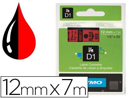 DYMO D1 NOIR/ROUGE 12mmx7m