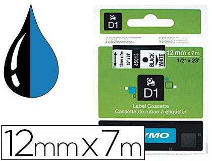 DYMO D1 NOIR/BLEU 12mmx7m