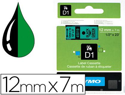 DYMO D1 NOIR/VERT 12mmx7m