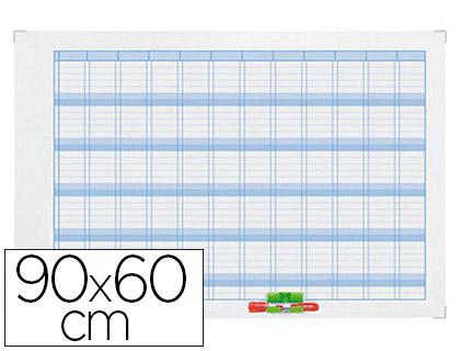 PLANNING ANNUEL MAGNÉTIQUE 90X60CM