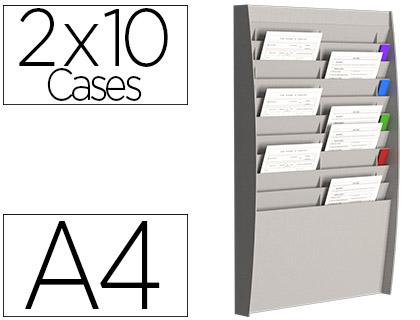 PRÉSENTOIR MURAL 20 CASES