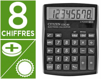 CITIZEN CDC-80 NOIR 8 CHIFFRES