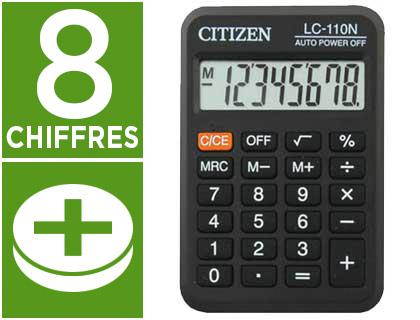 CITIZEN LC-110N NOIR 8 CHIFFRES