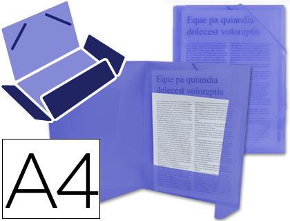 CHEMISE DOS FLEXIBLE A4 BLEU TRANSLUCIDE