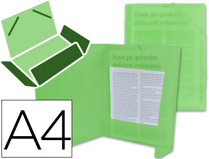 CHEMISE DOS FLEXIBLE A4 VERT TRANSLUCIDE