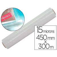 FILM ÉTIRABLE 15 MICRONS 0.45X300M TRANSPARENT