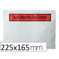 "POCHETTES ""DOCUMENTS ENCLOSED"" 225X165MM"