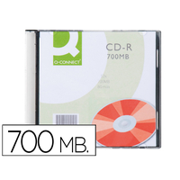 Q-CONNECT CD 700MB BOITE SLIM DE 10