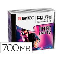 EMTEC CD-RW 700MB PACK DE 5