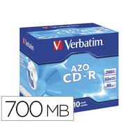 VERBATIM CD-R AZO PACK DE 10