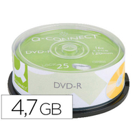 Q-CONNECT DVD-R 4.7Gb TOUR DE 25 SURFACE IMPRIMABLE