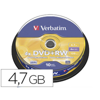 VERBATIM DVD+RW AZO REINSCRIPTIBLE TOUR DE 10