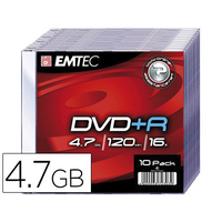 EMTEC DVD-R BOITE SLIM DE 10
