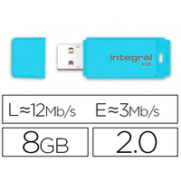 INTEGRAL CLÉ USB 2.0 8Gb BLEU