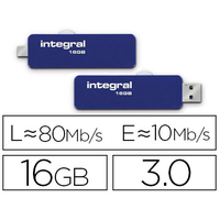 INTEGRAL CLÉ USB ON-THE-GO 3.2 SLIDE 16Gb