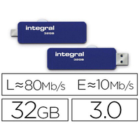 INTEGRAL CLÉ USB ON-THE-GO 3.2 SLIDE 32Gb