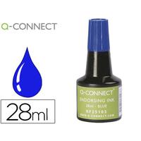 Q-CONNECT ENCRE A TAMPONS BLEU