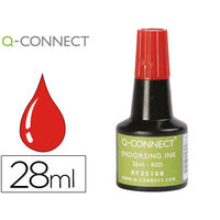 Q-CONNECT ENCRE A TAMPONS ROUGE