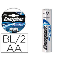 ENERGIZER PILES LITHIUM ULTIMATE AA/LR06 PACK DE 2