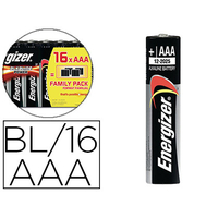 ENERGIZER PILES ALKALINE POWER AAA/LR03 PACK DE 16