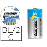 ENERGIZER PILE ALCALINE ADVANCED LR14 C PACK DE 2