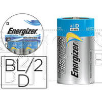 ENERGIZER PILE ALCALINE ADVANCED LR20 D PACK DE 2