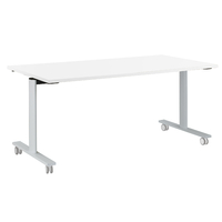 YES BLANC TABLE MOBILE ET RABATTABLE PIEDS BLANC 140CM