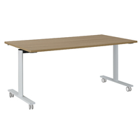 YES MERISIER TABLE MOBILE ET RABATTABLE PIEDS BLANC 140CM