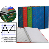 LIDERPAPEL MULTIDER A4 ASSORTIS QUADRILLAGE 5mm