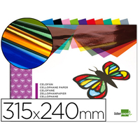 LIDERPAPEL BLOC PAPIER CELLOPHANE ASSORTIS