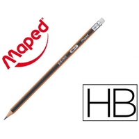 CRAYON GRAPHITE BLACK PEPS HB BOUT GOMME