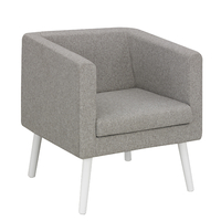 X-SPACE GRIS CHINÉ FAUTEUIL 1 PLACE