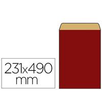 POCHETTE KRAFT ROUGE 31X8X49CM