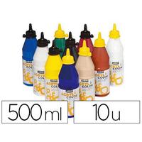ACRYLCOLOR 10 FLACONS DE 500ml
