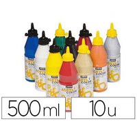 ACRYLCOLOR 10 FLACONS DE 500ml