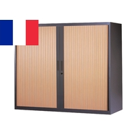 CORPS ANTHRACITE RIDEAUX HÊTRE ARMOIRE BASSE