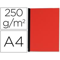 PLAT EN CARTON 250G/M2 A4 ROUGE
