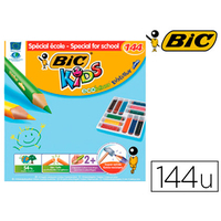 CRAYONS BIC KIDS EVOLUTION TRIANGLE PACK SCOLAIRE DE 144