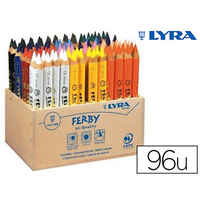 CRAYONS FERBY PACK SCOLAIRE DE 96