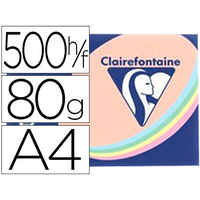 CLAIREFONTAINE TROPHÉE ASSORTIS PASTEL A4 80G